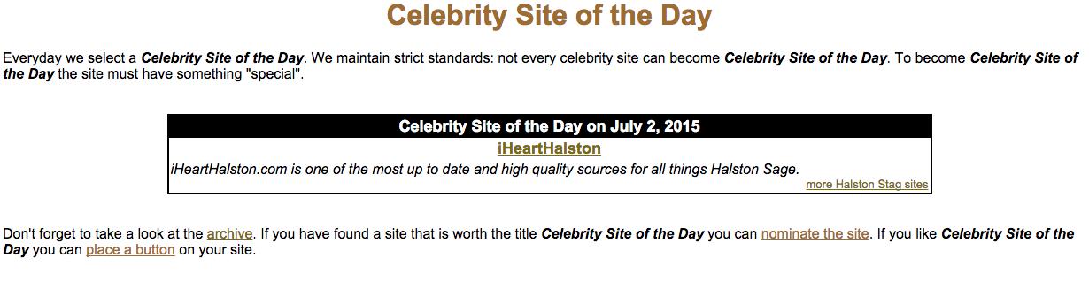 celebritysiteoftheday